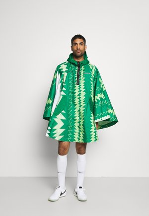 NFF NIGERIA PONCHO - Article de supporter - pine green/sub lime/pure platinum/black