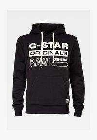 G-Star - ORIGINALS HOODED SW L\S DK BLACK MEN - Sweat à capuche - dk black - 0