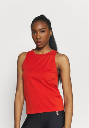SEAMLESS BLOCKED TANK - Toppi - impact red