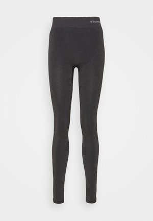 CI SEAMLESS MID WAIST - Tights - black melange