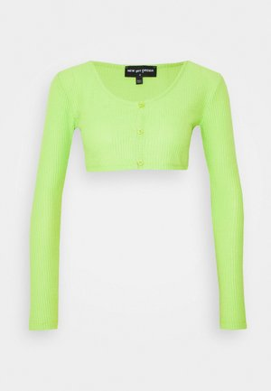 CROP CARDIGAN - Kardigan - green