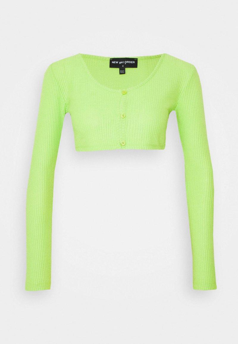 NEW girl ORDER - CROP CARDIGAN - Cardigan - green