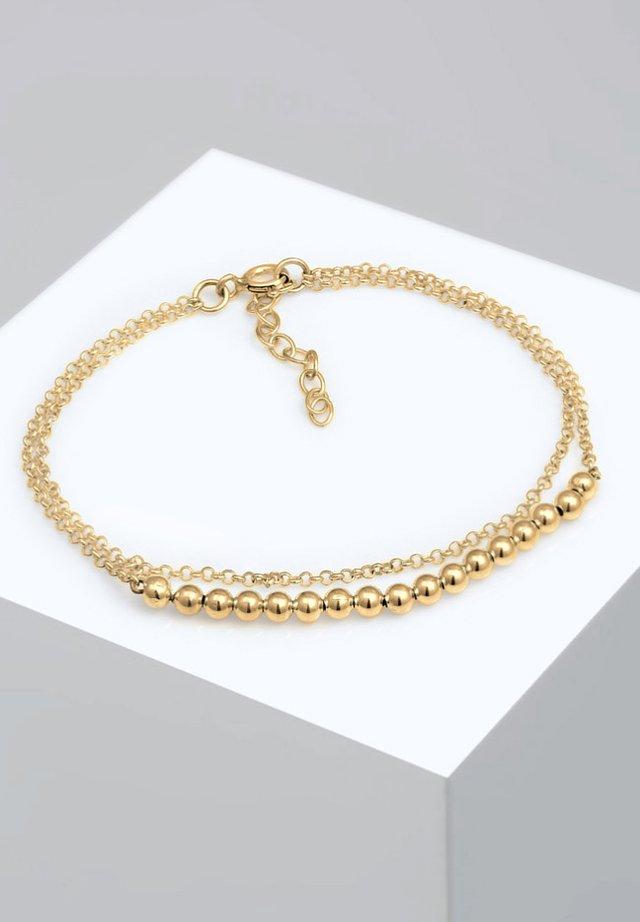 BASIC LAYER KETTCHEN KUGELN GEO DESIGN - Bracelet - gold