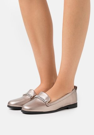 LIGHTNING BLING TRIM LOAFER - Instappers - pewter
