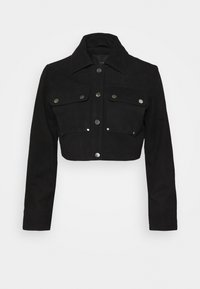 YASANNA CROPPED JACKET - Leather jacket - black