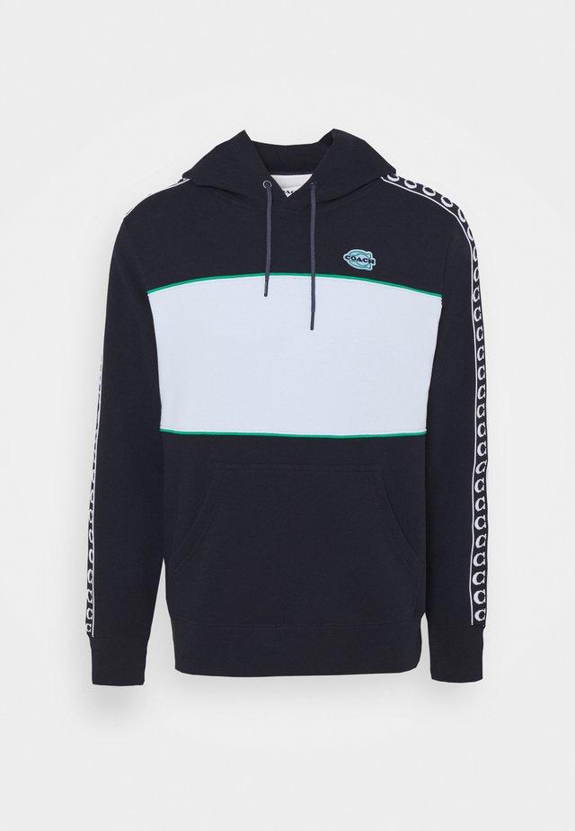 ATHLEISURE HOODIE - Sweatshirt - navy/green