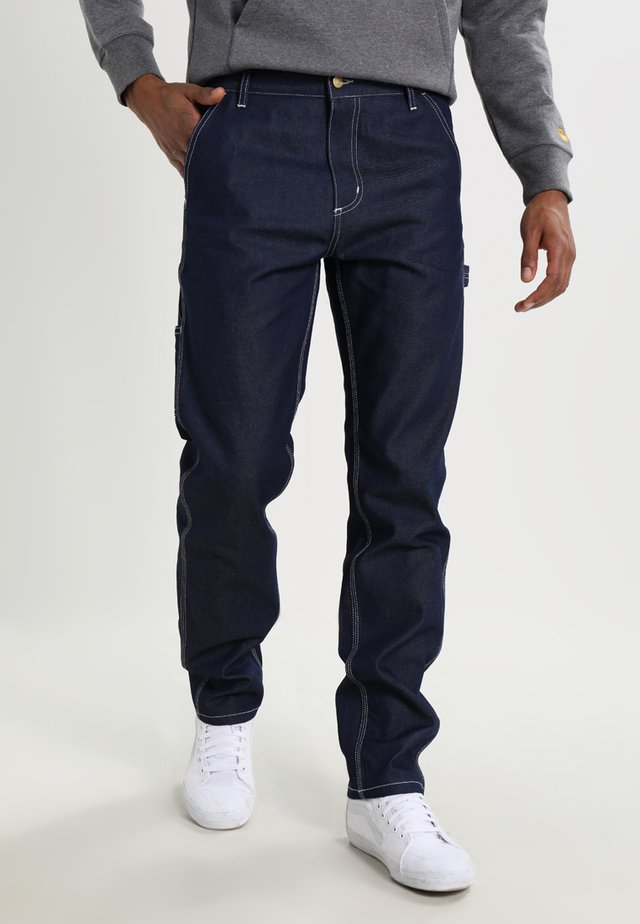 RUCK SINGLE KNEE PANT - Straight leg jeans - blue rigid