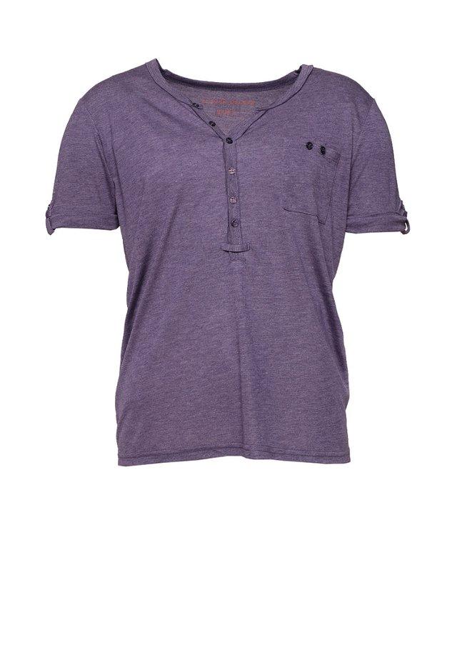L2 BASIC TS POCKET - T-shirt basique - violet chine