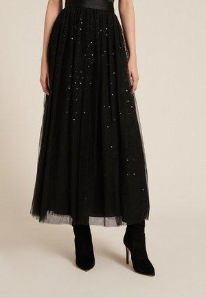 FISICA - Maxi skirt - nero/nero