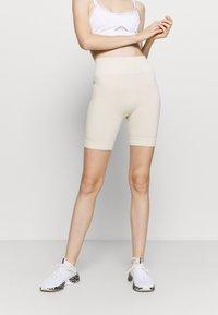 NU-IN - HIGH WAIST CYCLING SHORTS - Leggings - beige - 2