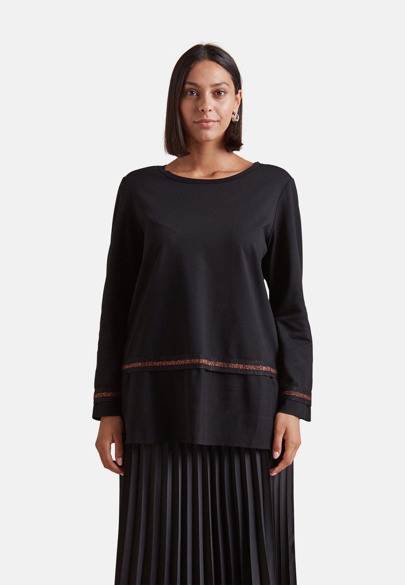 Elena Mirò - Long sleeved top - nero