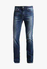 Pier One - Straight leg jeans - washed dark blue - 4