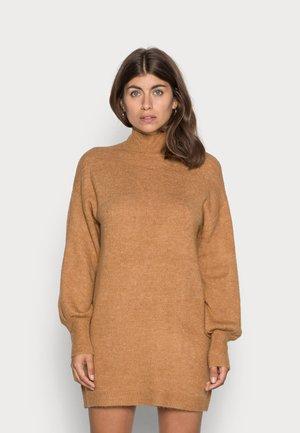 VMLEFILE HIGHNECK DRESS - Jumper dress - tobacco brown