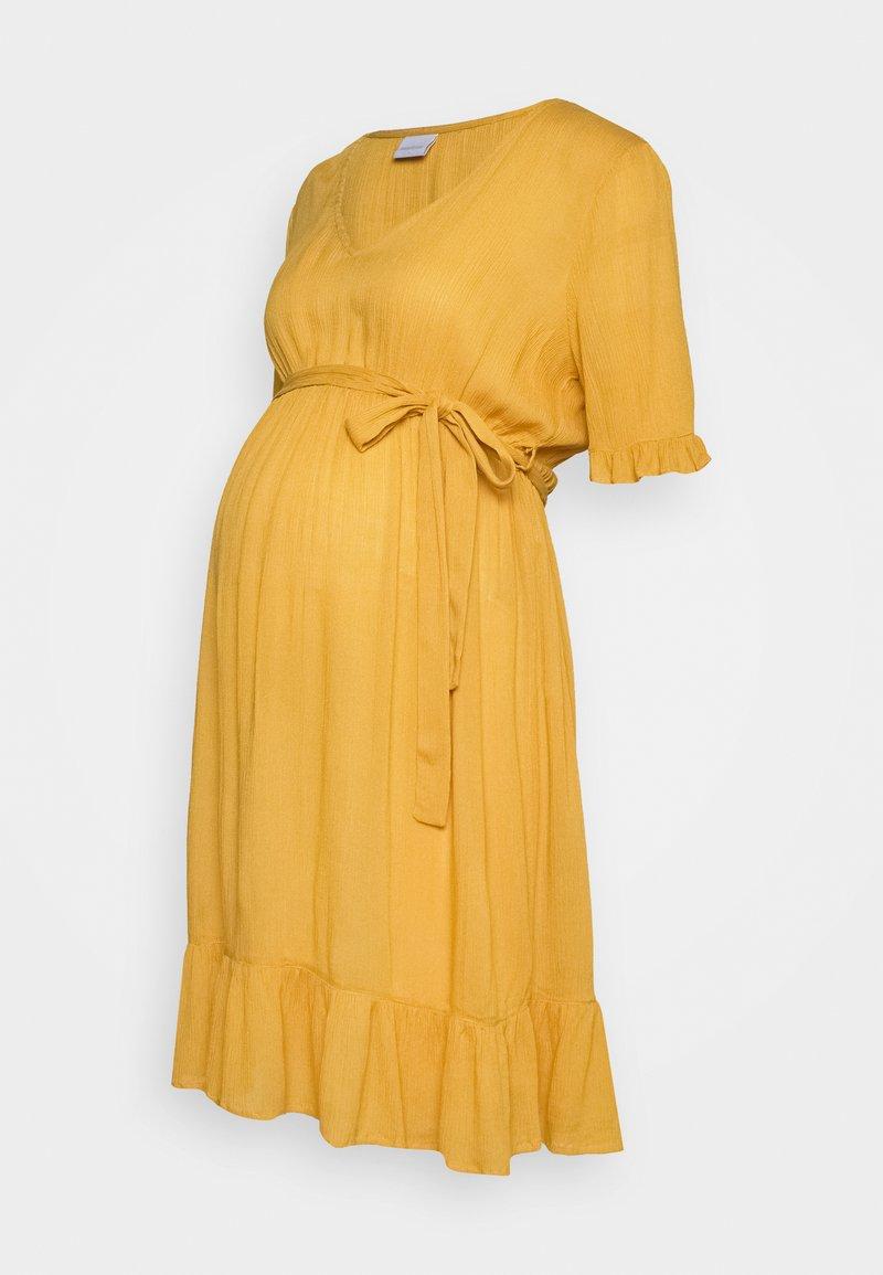 MAMALICIOUS - MLLANA 2/4 WOVEN SHORT DRESS  - Sukienka letnia - chinese yellow