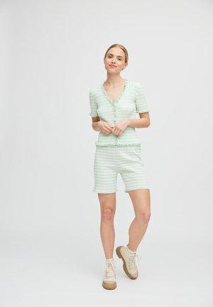 T-shirts print - pale mint off white