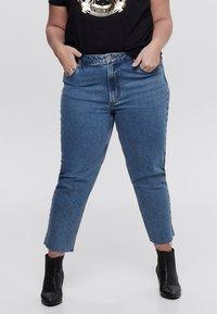 ONLY Carmakoma - CURVY  - Slim fit jeans - dark blue denim - 0