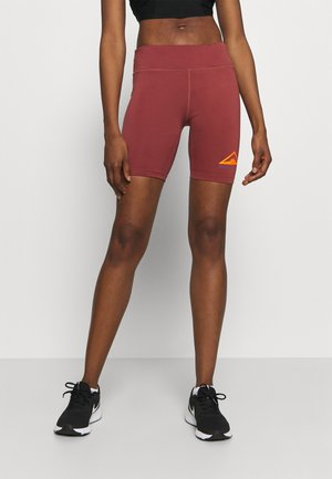 FAST SHORT TRAIL - Leggings - dark beetroot