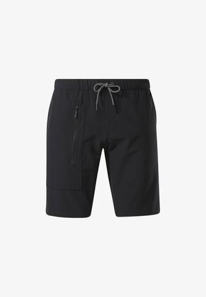 STRETCH WOVEN SHORTS - Sports shorts - black