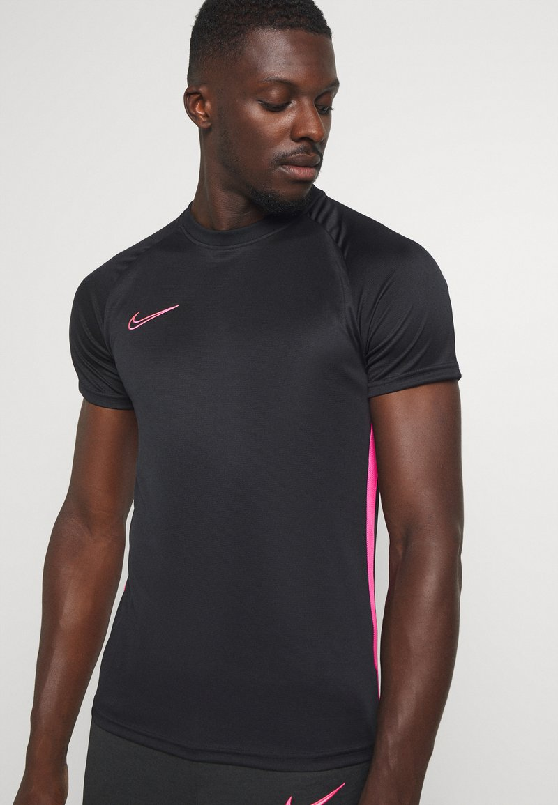 Nike Performance - DRY ACADEMY - Print T-shirt - black/hyper pink