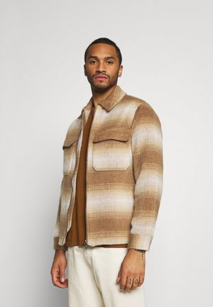 FADE CHECK - Light jacket - brown