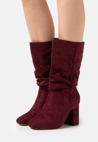 Dorothy Perkins Wide Fit - WIDE FIT BLOCK BOOT - Boots - burgundy - 0
