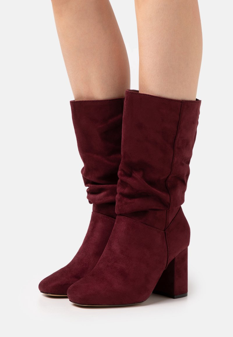 Dorothy Perkins Wide Fit - WIDE FIT BLOCK BOOT - Boots - burgundy