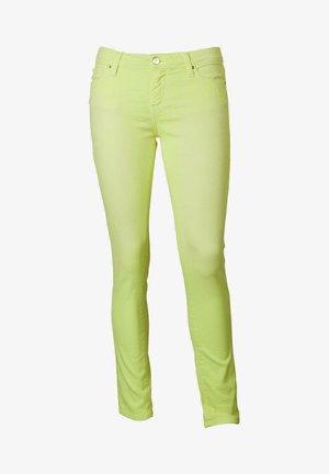 Straight leg jeans - neon yellow