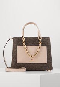Handbag - brown/softpink