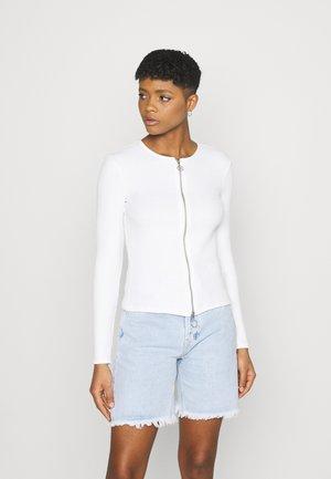 DOUBLE ZIPPER LONGSLEEVE  - Cardigan - off white