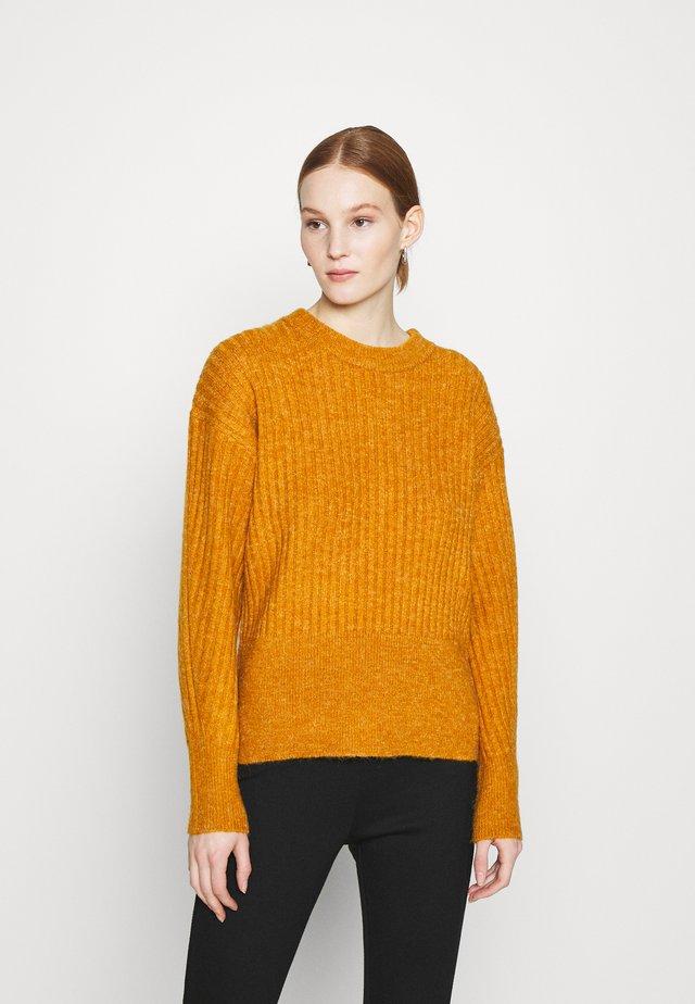 OBJSTELLA  - Pullover - buckthorn brown melange