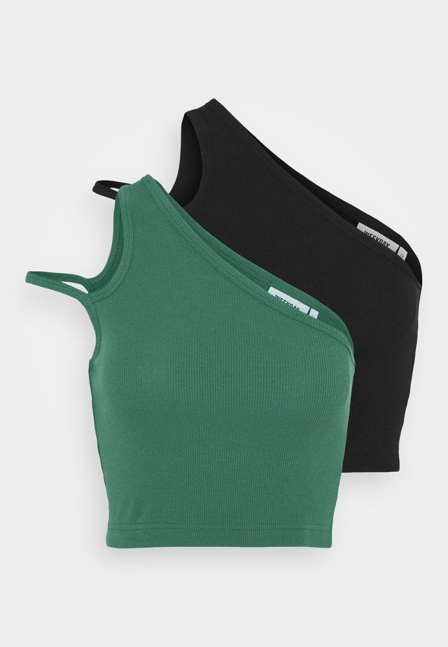 STRAP CROP 2 PACK - Débardeur - green/black