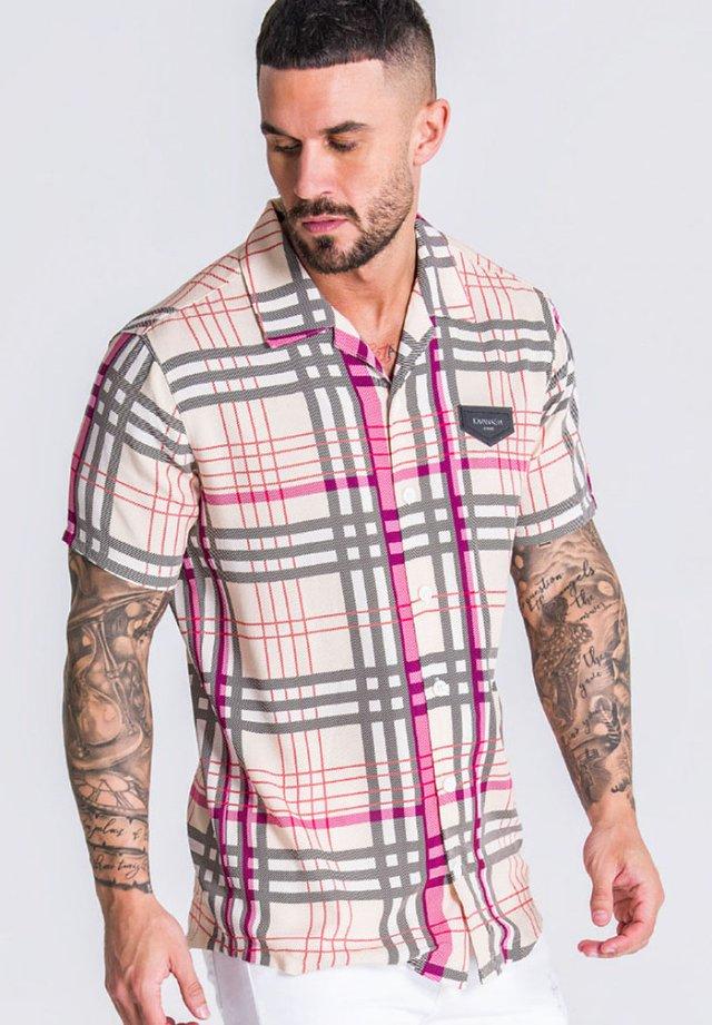 Overhemd - beige/black/pink