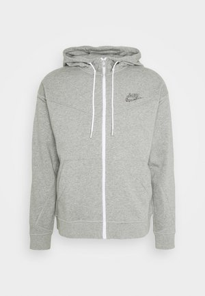 HOODIE - Zip-up hoodie - dark grey heather