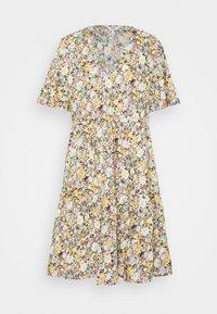 OBJJASIA V-NECK DRESS  - Day dress - sandshell