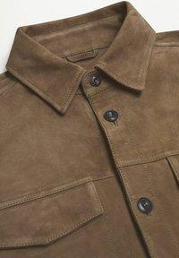 Mango - Leather jacket - hellbraun/pastellbraun - 6