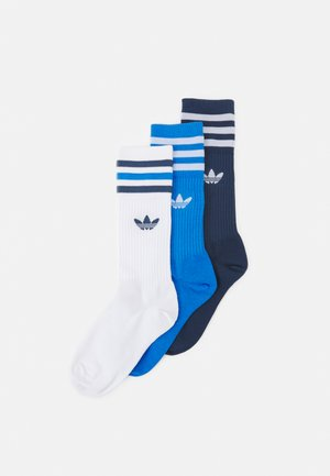 CREW SOCKS 3 PAIRS - Calze - white/true blue/crew navy