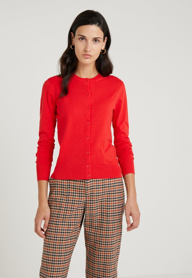 Cardigan - bright cerise