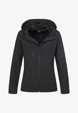 Soft shell jacket - black opal