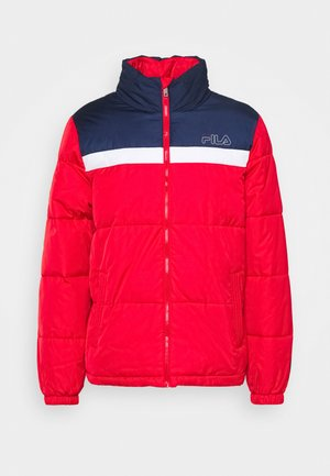 LANDOLF PUFFED JACKET - Chaqueta de entrenamiento - true red/black iris/bright white