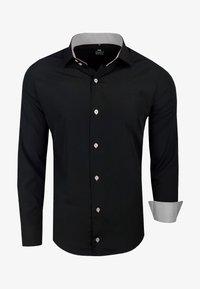 Rusty Neal - FREIZEIT-HEMD - Shirt - schwarz/grau - 0