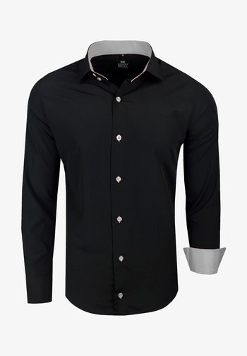 FREIZEIT-HEMD - Shirt - schwarz/grau