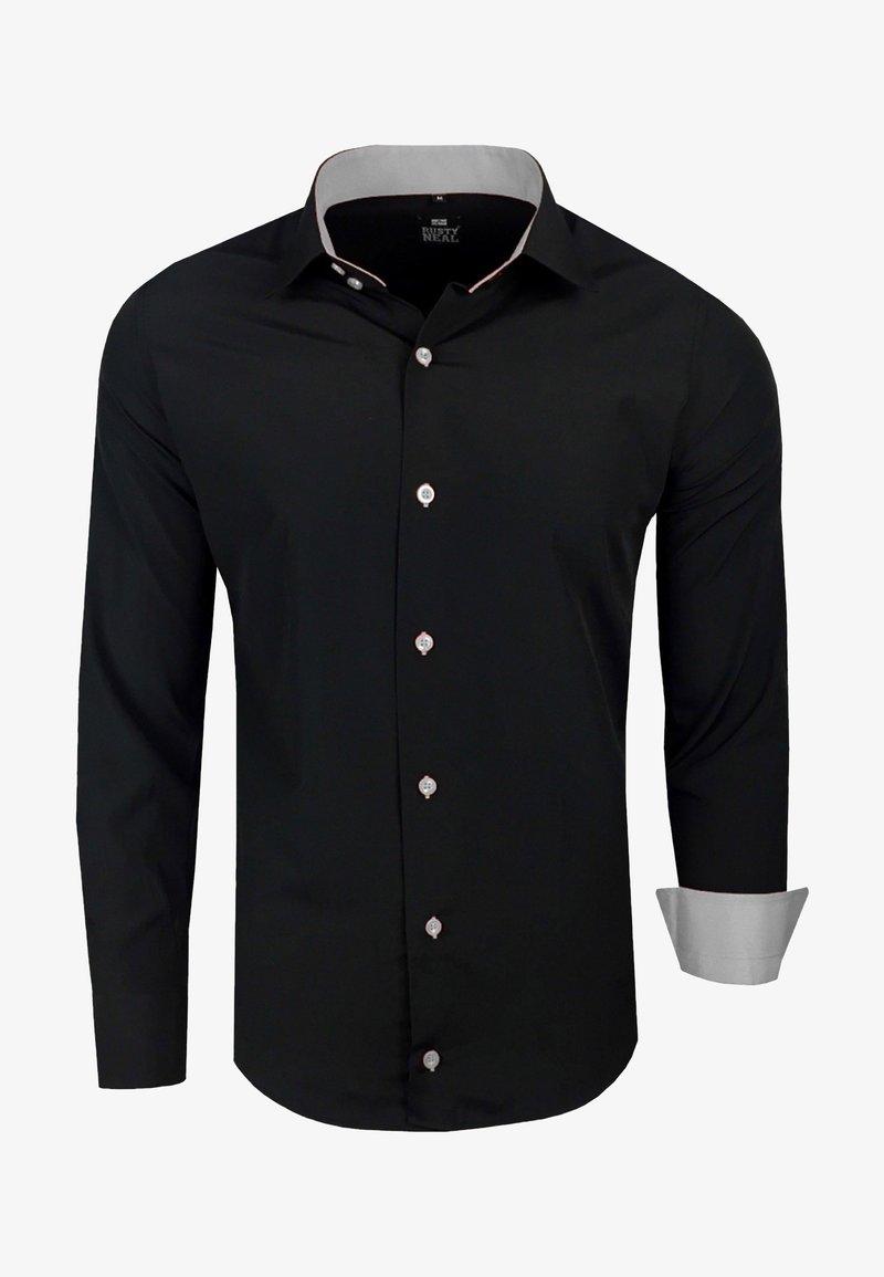Rusty Neal - FREIZEIT-HEMD - Shirt - schwarz/grau
