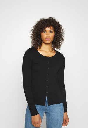 VMNELLIE GLORY O NECK CARDIGAN - Cardigan - black