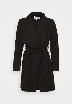 VICOOLEY COLLAR BELT COAT - Classic coat - black