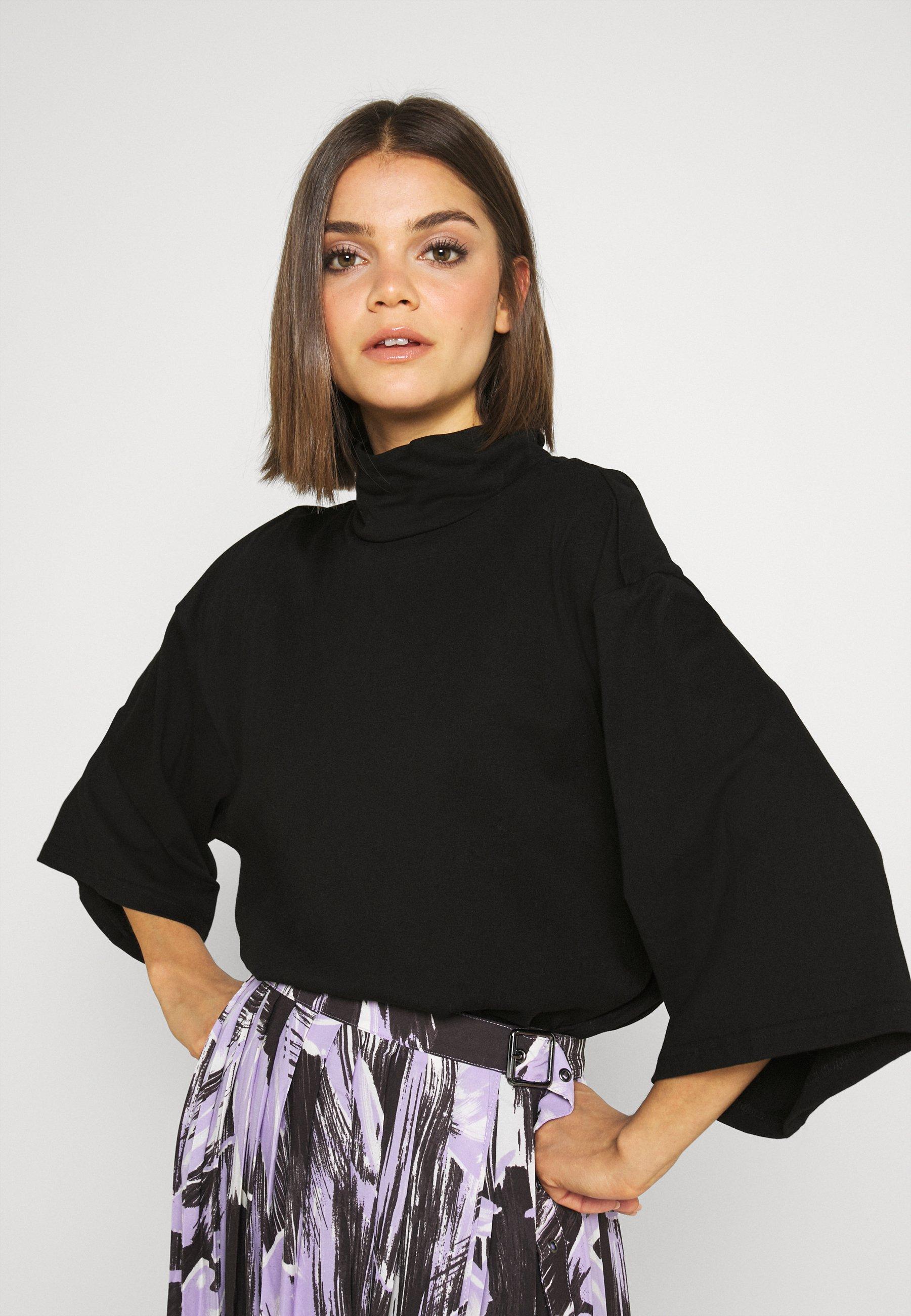 Damen T-Shirt basic - black