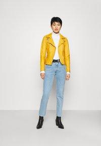 Freaky Nation - BIKER PRINCESS - Leather jacket - halo yellow - 1