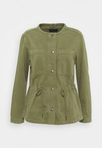 Marks & Spencer London - WAISTED - Denim jacket - khaki - 0