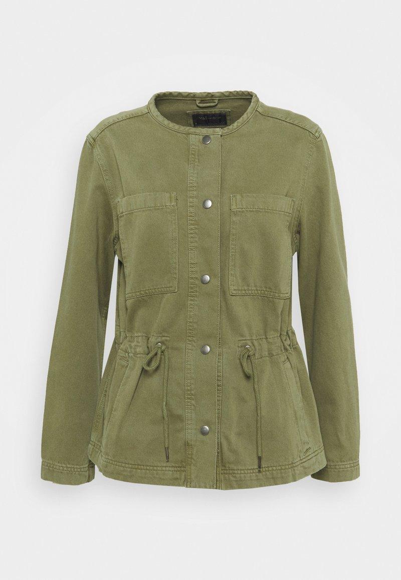 Marks & Spencer London - WAISTED - Denim jacket - khaki