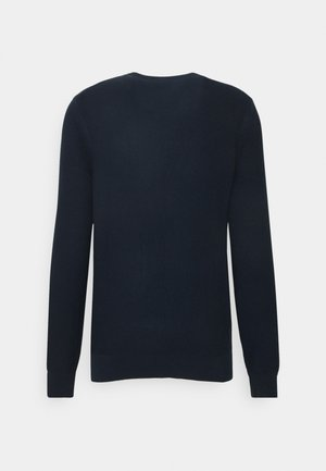 MENS CREW NECK - Jumper - dark blue, red