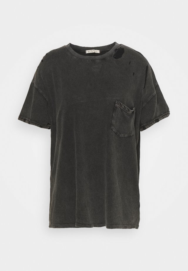 RUBI TEE - T-shirt basic - washed black